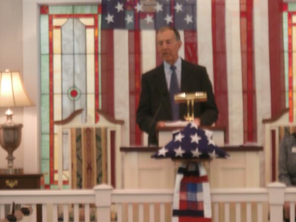 Guest Speaker Capt. Gregory C. Brown USN (Ret.) Capt. Brown's speech was entitled