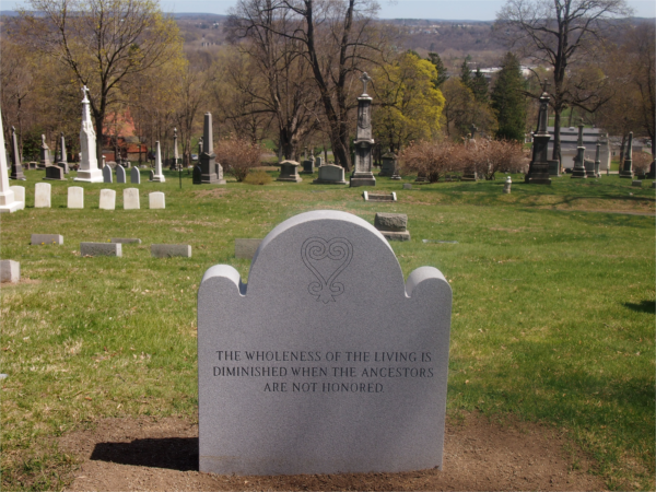 Historic African Burial Ground headstone at St.Agnes Cemetery, Menands, NY