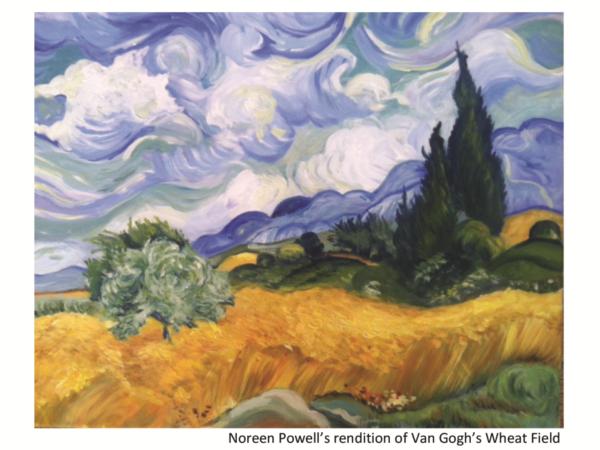 Noreen Powell's rendition of Van Gogh's Wheat Fields