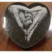 Engraved Marble Heart