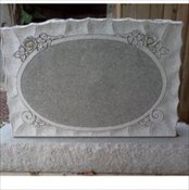 Oval panel in Medium Barre