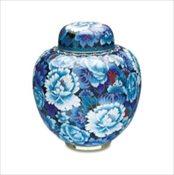 Royal Blue Cloissonne' Urn