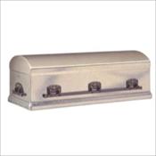 Silver Galvanized 7 Gauge Steel Burial Vault