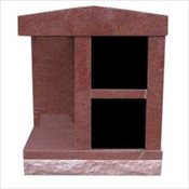 Personal 2 Niche Cremation Monument with Alcove