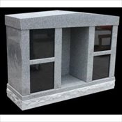 Personal 4 Niche Cremation Monument with Alcove