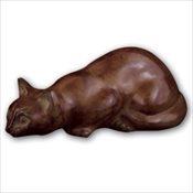 Calico Crouching Cat