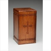 Rosewood Urn with Cross