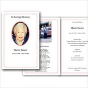 Custom Memorial Folders or Prayer Cards