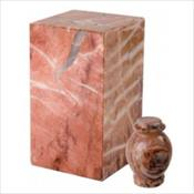 Exotic Pink Marble Urn