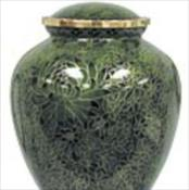 Hunter Green Cloisonne Urn
