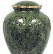 Hunter Green Cloisonne Urn