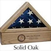 Premium Wood Flag Case Urn