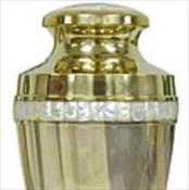 Traditional Mother of Pearl Brass Urn