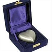 Brass Pewter Heart Shaped Keepsake with Box