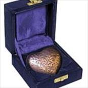 Copper Oak Heart Keepsake