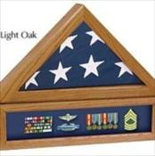 Premium Flag Case with Medal Display Case