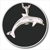 Sterling Silver Dolphin Keepsake Pendant