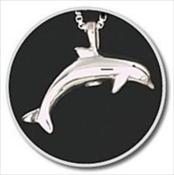 Sterling Silver Dolphin Keepsake Pendant