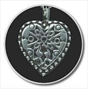 Sterling Silver Filigree Heart Keepsake Pendant