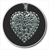 Sterling Silver Filigree Heart Keepsake Pendant