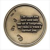LifeStories Keepsake Medallion - Footprints