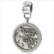 LifeStories Medallion Bead - Footprints