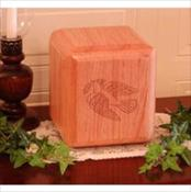 Dove Solid Oak Urn