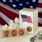 Veteran Bronze with Flag Panel Urn
