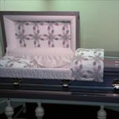 Valencia Orchid Quilted Interior Casket