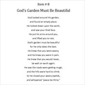 8 - God's Garden Must Be Beautiful