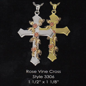 Rose Vine Cross
