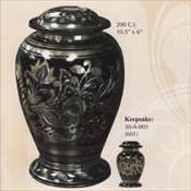 Emerald Green - Brass Urn