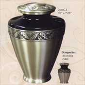 Golden Leaf - Brass Urn