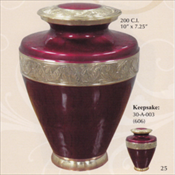 Golden Scarlet - Brass Urn
