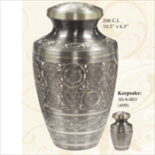 Platinum Engraved - Brass Urn
