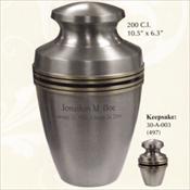 Pewter Grecian - Brass Urn