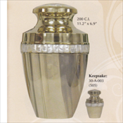 Traditional Mother of Pearl - Brass Urn