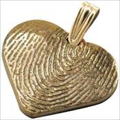 Heart Life Print Keepsake Charm