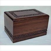Carved Wooden Urn