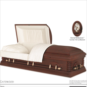 RENTAL: Gatewood Cherry Cremation Casket ...... $ 1,250