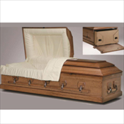 RENTAL: Freeport Poplar Cremation Casket (Oversize) ...... $ 1,395