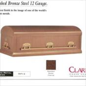 Clark Grave Vault Company/Burnished Bronze Steel 12 gauge    $2400