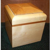 Solid Maple Urn I
