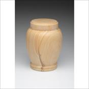 Teak Natural Marble Urn