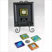 Dichroic Glass Framed Memorials