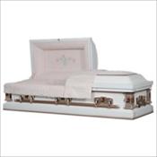 White Rose (Cremation Rental Casket). $1695