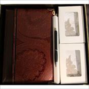Paisley Swirl Leather Box Set