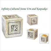 Infinity Cultured Stone Urn & Keepsakes
