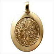 Standard Gold Rimmed Pendant