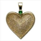 Gold Heart with Stone